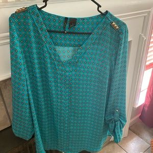 New Directions teal top